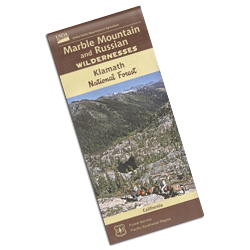 Marble Mountain & Russian Wilderness Areas Map